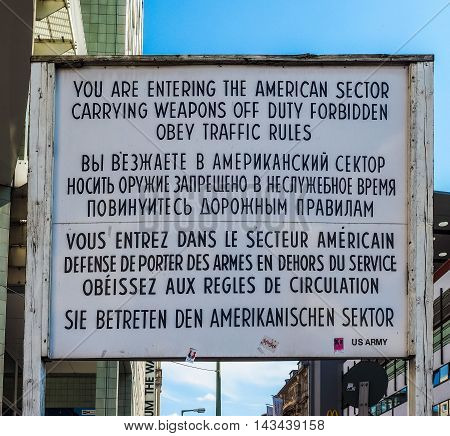 Checkpoint Charlie In Berlin (hdr)