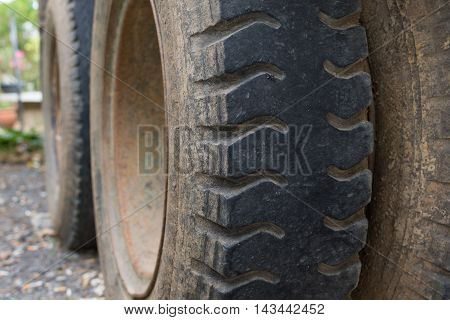 Truck Tire With Dust