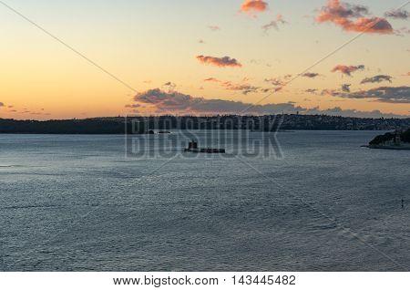 Sydney Harbour And Fort Denison On Sunrise