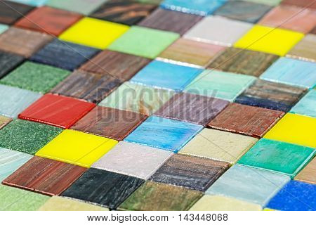 Multicolored Glass Smalt Tiles Mosaic Background