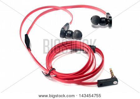 scene bright red headphones for your phone