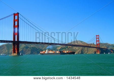 Golden Gate Cargo Ship