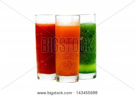 Various Smoothies Over White