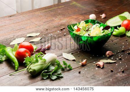 Preparing Of The Salad