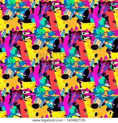 colored graffiti seamless texture vector illustration abstract high quality
