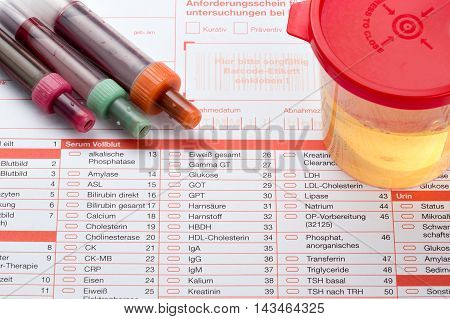 Urine And Blood Test (complete Blood Count)