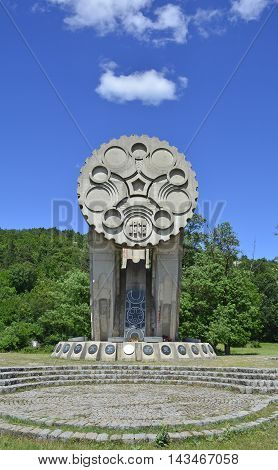 Niksic Montenegro - June 28th 2016. A communist-era war memorial Monument to Fallen Patriots. The memorial is dedicated to the 32 anti-fascists and patriots shot on Trebjesa Hill.