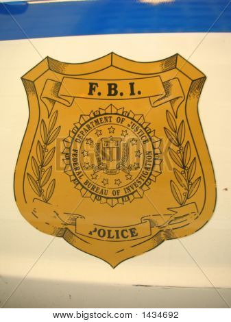 Fbi Sign On A Car Door, Washington