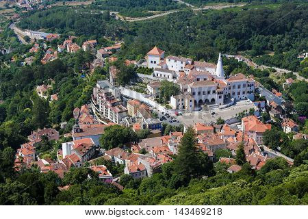 The Palace of Sintra (Palacio Nacional de Sintra) also called Town Palace is located in the town of Sintra in the Lisbon District of Portugal.