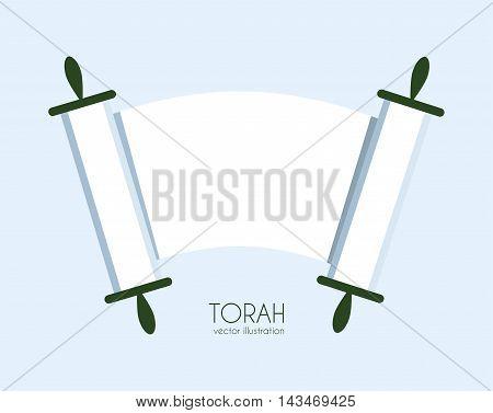 Jewish Torah scroll icon. isolated vector illustration