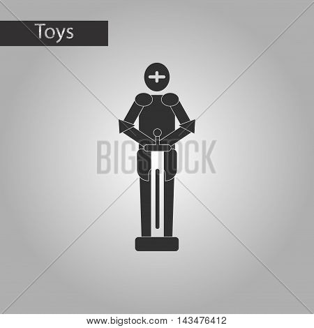 black and white style Kids toy child soldier Knight