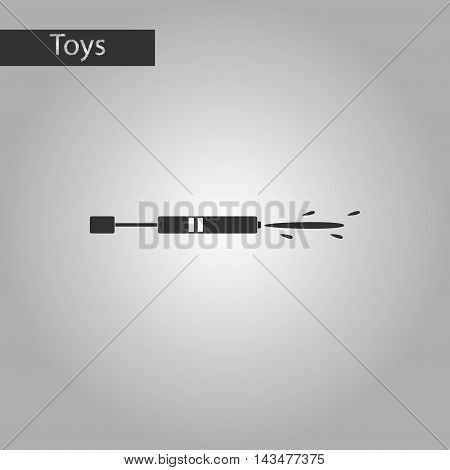 black and white style Kids toy water gun