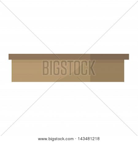 Move box service business vector. Craft box isolated on white background illustration. Box for moving, move business, relocation. Transportation package cargo service. Shopping delivery box