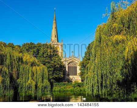 Holy Trinity Church In Stratford Upon Avon Hdr