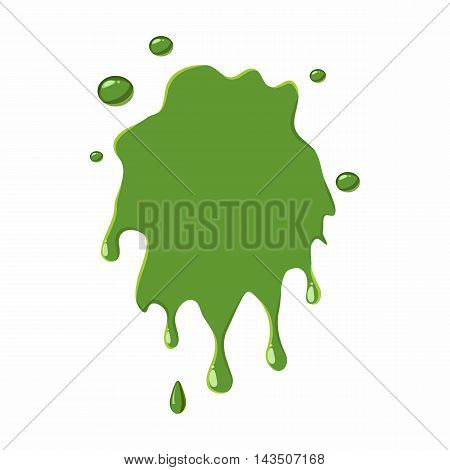 Slime spot isolated on white background. Green slime spot vector illustration