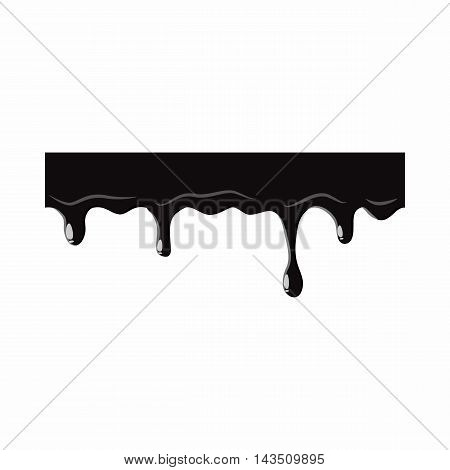 Oil leaking isolated on white background. Black oil leaking vector illustration