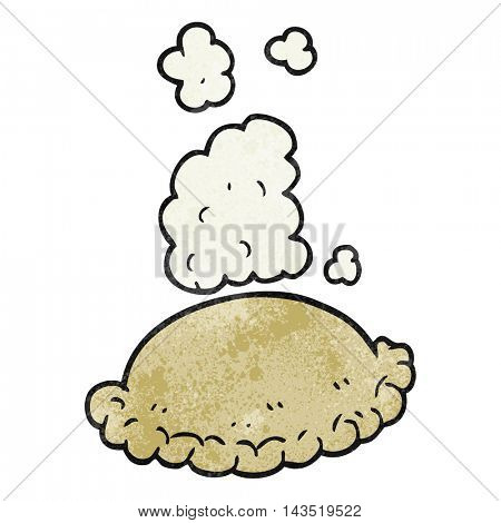 freehand textured cartoon baked pasty