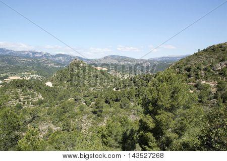 Tarragona landscape in Tarragona in Catalonia, Spain.
