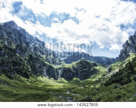 View from Bucegi National Park Mountains, Romania