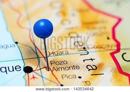 Pozo Almonte pinned on a map of Chile