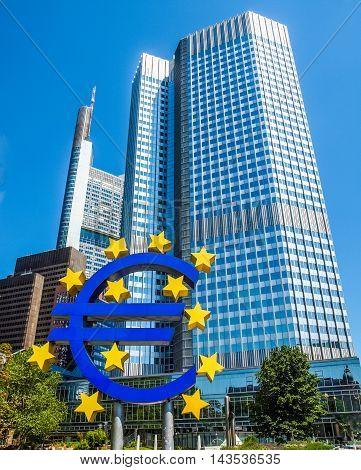 European Central Bank In Frankfurt Hdr