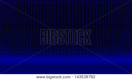 blue product display 8 bit wire frame background image