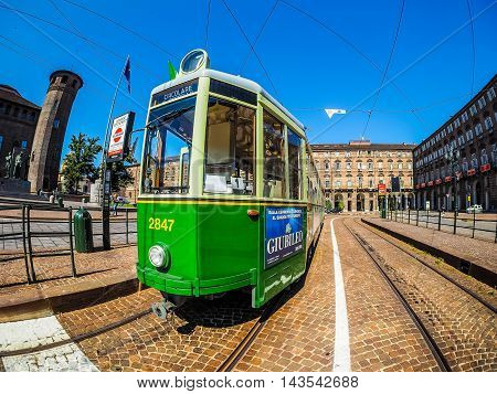 Old Tram In Turin (hdr)