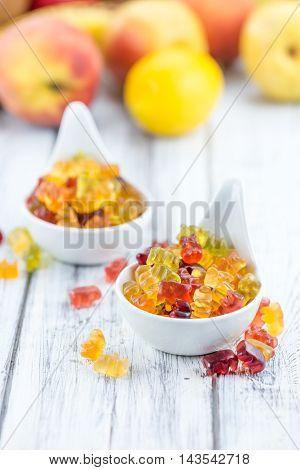 Fruity Gummy Bears (close-up Shot)