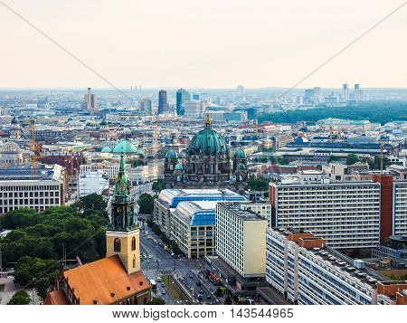Aerial View Of Berlin (hdr)