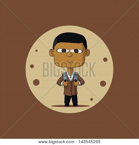 Asian Schoolboy With Briefcase