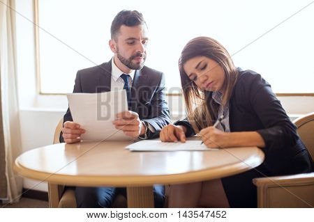 Businessman And Client Closing A Deal