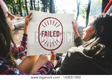 Failed Fiasco Loss Unsuccessful Graphic Concept