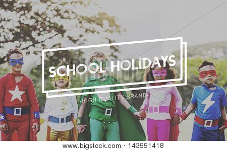School Holidays End of Semester Freedom Spring Break Concept