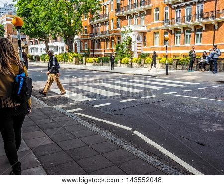 Abbey Road Crossing In London (hdr)