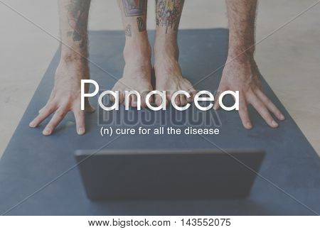 Panacea Cure Diseases Health People Graphic Concept