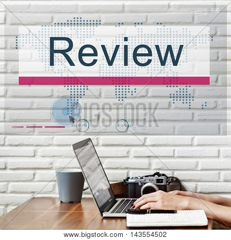 Review Audit Auditing Evalutate Report Rethink Concept