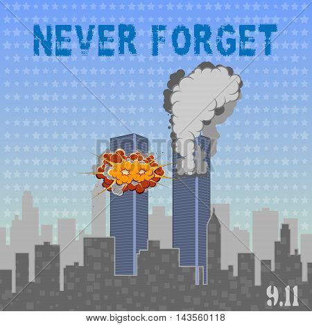 USA memorial day 9th of september. Patriot day 9 11. Never forget