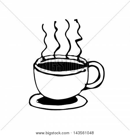 doodle coffe cup icon drawing illustration design