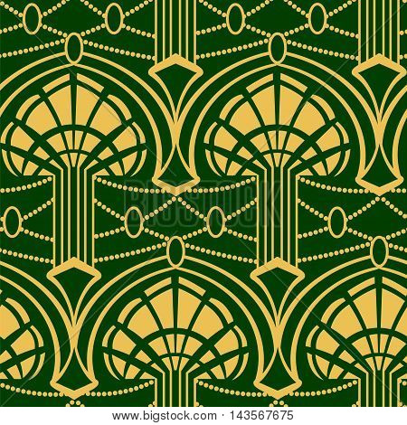 Artdeko - seamless pattern in vintage style of the twenties beginning of the twentieth century