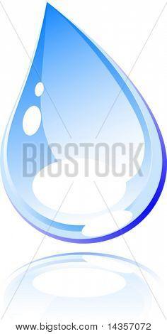 Bright water drop. Vector illustration.