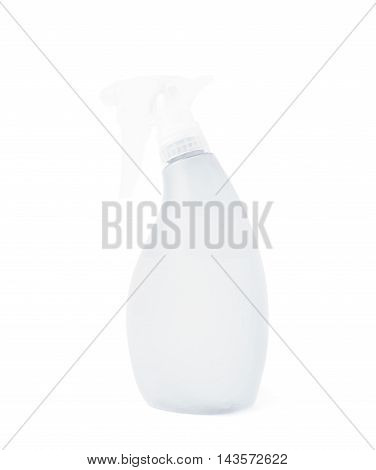 White plastic pulverizer spray isolated over the white background