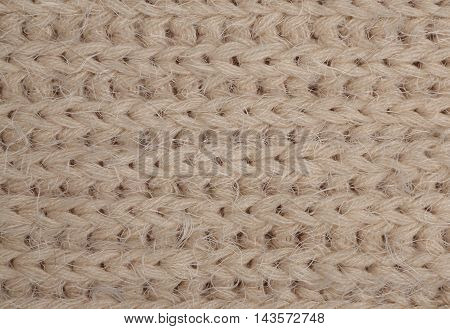 Beige Knitted Fabric
