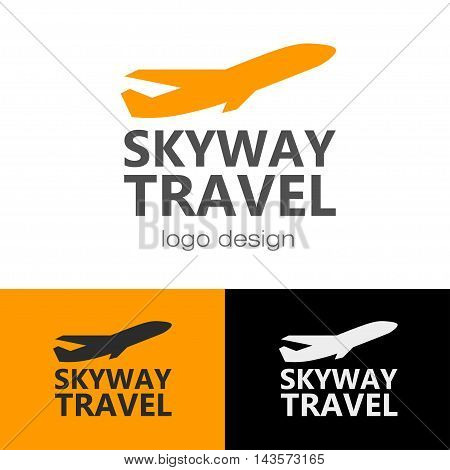 Logo design Skyway travel, vector for web and print
