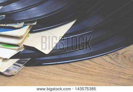 Old vinyl record - retro style photo