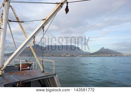 Fishing Trawler Entering Table Bay