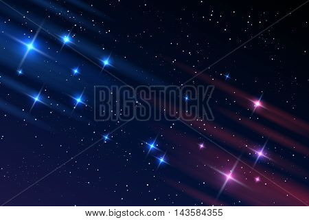 Universe background. Night sky galaxy stars vector illustration