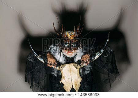 Gothic Man With Cranium