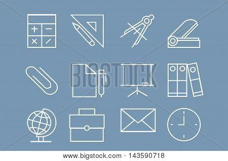 School Icons Set.