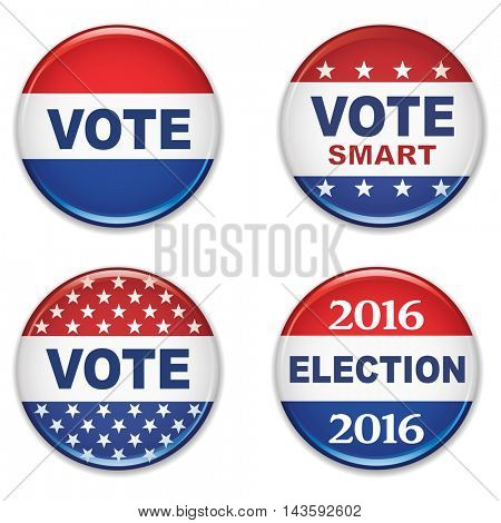 US Presidential Election Buttons-2016