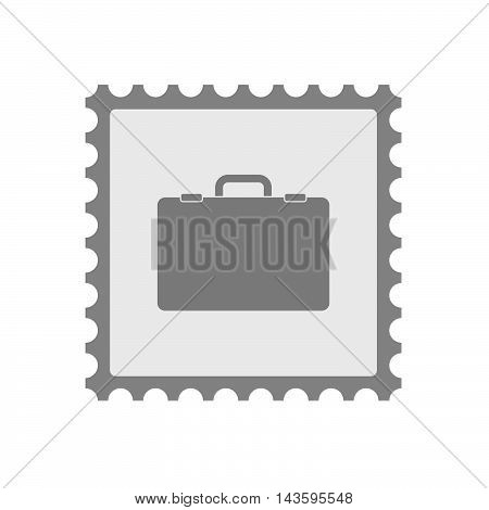 Isolated Mail Stamp Icon With  A Briefcase